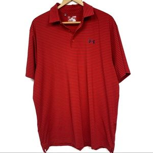 Under Armour Heat Gear striped polo shirt